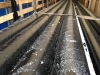 Транспортировка трубы в ВУС изоляции и внутренним антикоррозионым эпоксидным покрытием, с дополнительными прокладками и креплением в кузове
